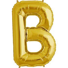 34 inch Gold Letter B Foil Mylar Balloon