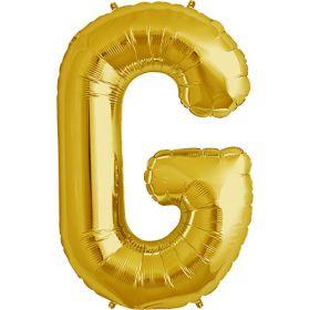 34 inch Gold Letter G Foil Mylar Balloon