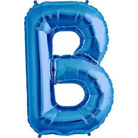 34 inch Blue Letter B Foil Mylar Balloon