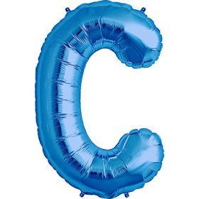 34 inch Blue Letter C Foil Mylar Balloon