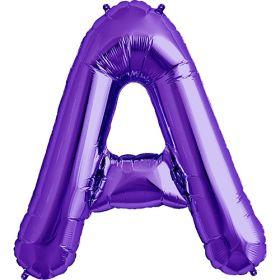 34 inch Purple Letter A Foil Mylar Balloon