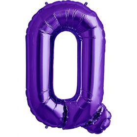 34 inch Purple Letter Q Foil Mylar Balloon