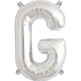 16 inch Silver Letter G Foil Mylar Balloon