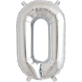 16 inch Silver Letter O Foil Mylar Balloon