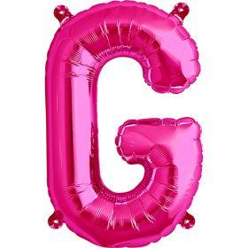 16 inch Magenta Letter G Foil Mylar Balloon