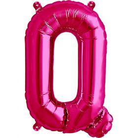 16 inch Magenta Letter Q Foil Mylar Balloon