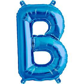 16 inch Blue Letter B Foil Mylar Balloon