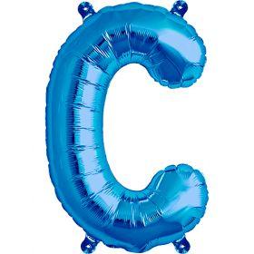 16 inch Blue Letter C Foil Mylar Balloon