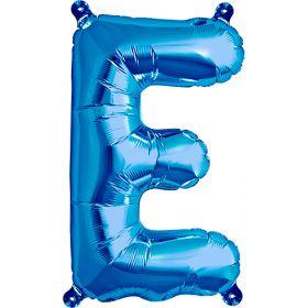 16 inch Blue Letter E Foil Mylar Balloon