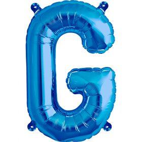 16 inch Blue Letter G Foil Mylar Balloon