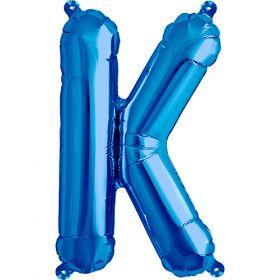 16 inch Blue Letter K Foil Mylar Balloon