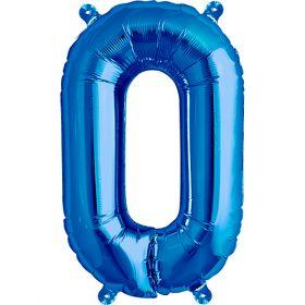 16 inch Blue Letter O Foil Mylar Balloon
