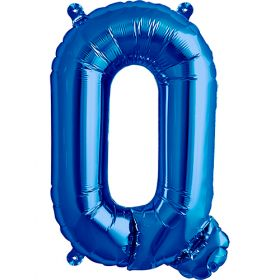 16 inch Blue Letter Q Foil Mylar Balloon