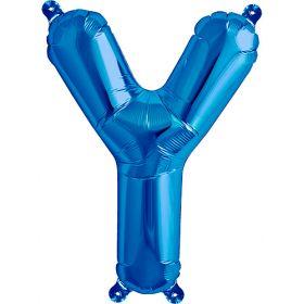 16 inch Blue Letter Y Foil Mylar Balloon