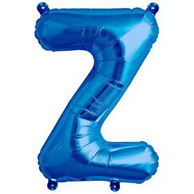 16 inch Blue Letter Z Foil Mylar Balloon