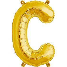 16 inch Gold Letter C Foil Mylar Balloon