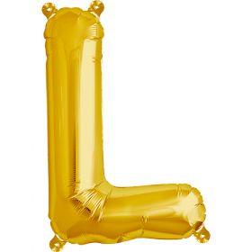 16 inch Gold Letter L Foil Mylar Balloon