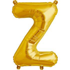 16 inch Gold Letter Z Foil Mylar Balloon
