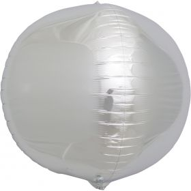 17 inch Northstar Silver Sphere Foil Balloons
