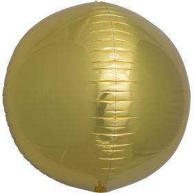 17 inch Northstar Gold Sphere Foil Balloons