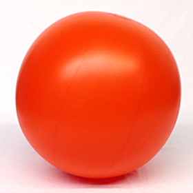 4 foot Orange Vinyl Display Ball