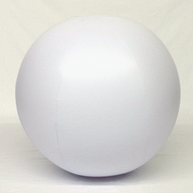 5 foot White Vinyl Display Ball