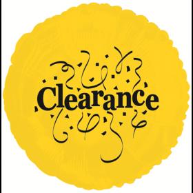 """18"""" Foil Mylar Yellow Circle Clearance Balloon"""