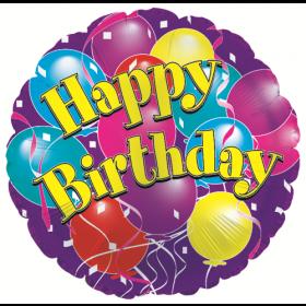 18 inch Foil Mylar Circle Happy Birthday Big Birthday Balloons Balloon