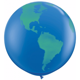 Qualatex Globe Earth Design 36 inch Latex Balloons