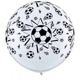 Qualatex Soccer Ball Design Wrap Print 36 inch Latex Balloons - 2 count