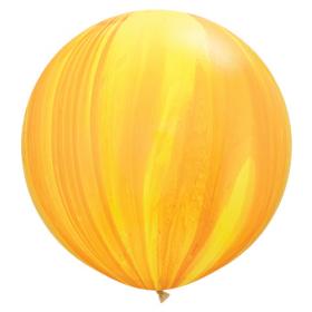 Qualatex Yellow/Orange Rainbow Agate 30 inch Latex Balloon - 2 count