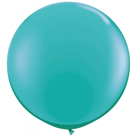 36 inch Tuf-Tex Round Latex Balloons - Teal