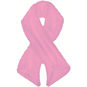42 inch Pink Ribbon Breast Cancer Awareness Shape-A-Loon Foil