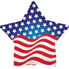18 inch Foil Mylar Patriotic Prism Star Shape Balloon