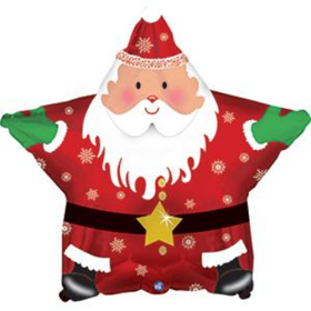18 inch Foil Mylar Santa Claus Star Shape Balloon