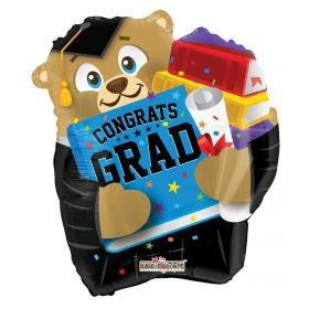 18 inch Congrats GRAD Bear Shape Foil Balloon
