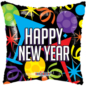 18 inch Happy New Year Balloons Square Foil Balloon