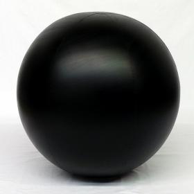 3 foot Black Vinyl Display Ball