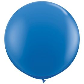 36 inch Tuf-Tex Round Latex Balloons - Standard Blue