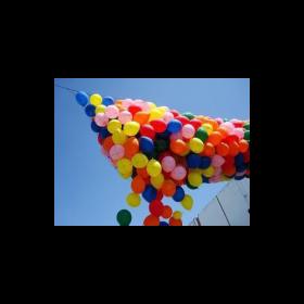 Pre-strung 500 Balloon Drop Net - Basic Style 4.5 x 17 Feet Filled