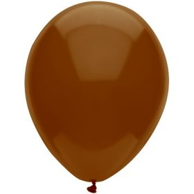 11 inch Tuf-Tex Latex Balloons - Brown - 100 count
