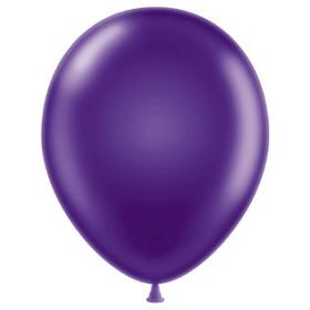 11 inch Latex Balloons - Metallic Concord Grape - 100 count