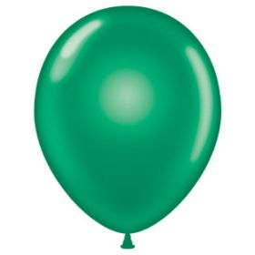11 inch Tuf-Tex Latex Balloons - Crystal Emerald Green - 100 count