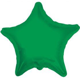 18 inch Emerald Green Star Foil Balloons