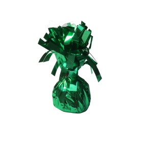 120 Gram Foil Covered Balloon Bouquet Weight Green - 6 count