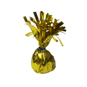 120 Gram Foil Covered Balloon Bouquet Weight Gold - 6 count