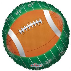 18 inch Football on Field Foil Balloon
