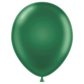 11 inch Latex Balloons - Metallic Forest Green - 100 count