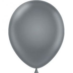 11 inch Tuf-Tex Latex Balloons - Smoke Gray - 100 count