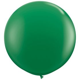 36 inch Tuf-Tex Round Latex Balloons - Standard Green